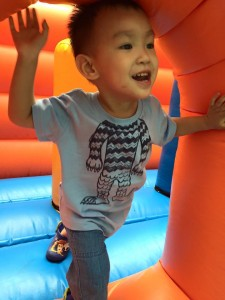 bouncing cottage at sky christmas